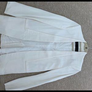 NWOT Zara off white shawl collar long blazer, s